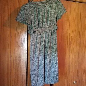 Black/grey soft tweed inspired dress